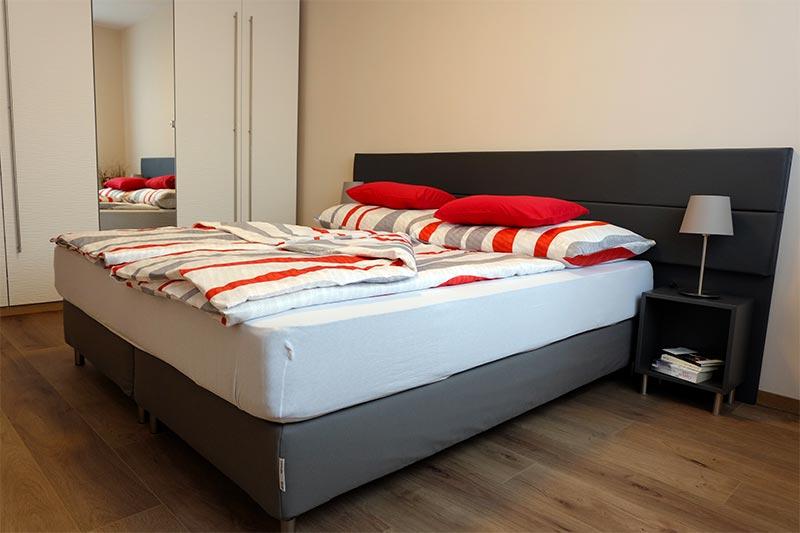 Schlafzimmer von CAMPANELL Das Ferienhaus im Blaufränkischland.